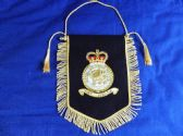 ROYAL AIR FORCE POLICE ( RAFP )  BULLION WIRE EMROIDERED PENNANT